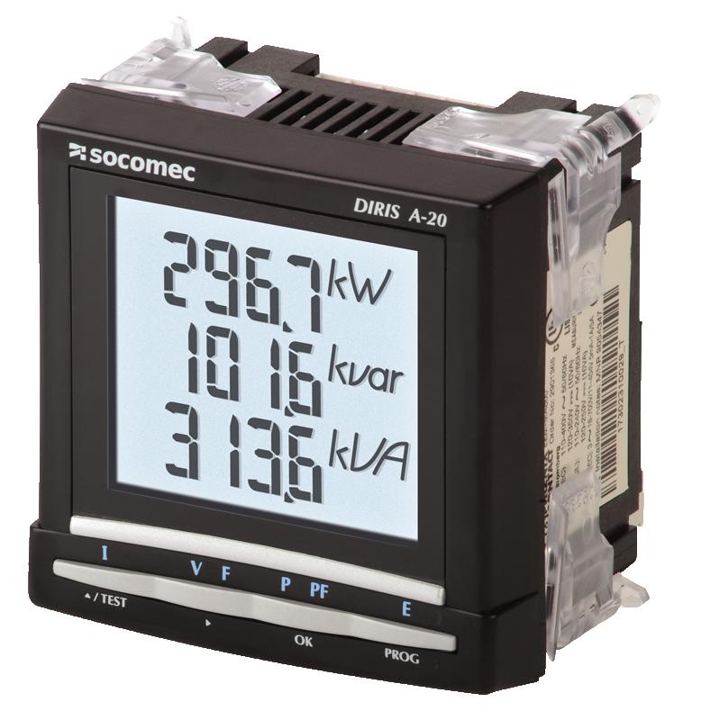 DIRIS A40/41, A10, A20 - Multifunction meters - Socomec